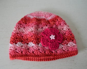 Hat 3/6 month pink baby girl