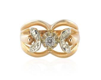 Bague Diamants Ors rose blanc
