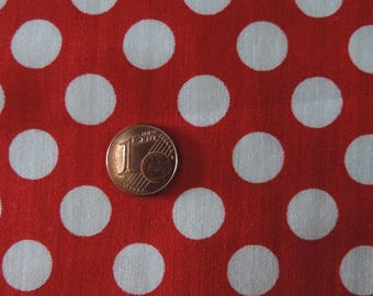 MICHAEL MILLER fabric CX1492-REDX-D: Ta Dot red with white pea / Cut 50x55 cm