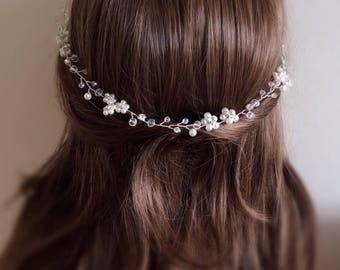 Bridal hair wreath, Bridal Hair Vine, Wedding Hair Vine,  Bridal Hair Piece, Wedding Hair wreath, crystal hair vine, bridal hair accessory,