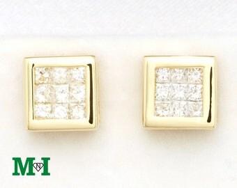 Diamond Stud Earrings,14K Solid gold stud Earrings, Gold Stud Earrings, stud earring, Gift For Her,