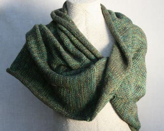 Bridesmaid shawl capelets / Mohair scarf / Cozy oversized neck wrap / Fall scarf boho /  / green shawl / Bridal capes / Infinity cowl - Oak