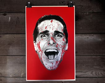 American Psycho Patrick Bateman Screen Print Poster