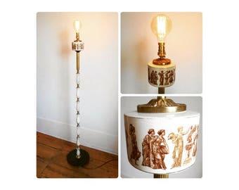 Marble & Brass Floor Lamp