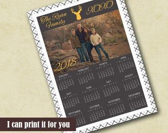 2018 Calendar printable for photographers calendar template