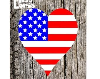 Heart Flag 4th of July Patriotic  SVG DFX Cut file  Cricut explore filescrapbook vinyl decal wood sign cricut cameo Commercial use