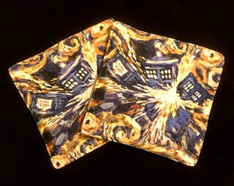 Doctor Who Exploding Tardis Pot Holders - set of two