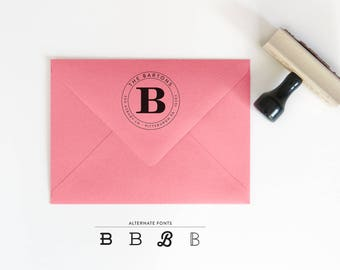 Round Return Address Stamp - Custom Rubber Stamp - Christmas Gifts - Gift for Her - Personalized Stamp - Housewarming Gift - RSVP Stamp