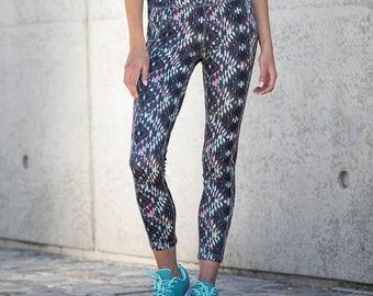 Womens Leggings / Leggings / Yoga Leggings / Workout Leggings / Yoga Pants / Printed Leggings / Runners Leggings / Geometric Leggings / Art