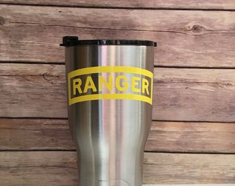 ON SALE***Army Ranger Tab 30oz RTIC/Father's Day/Boating/Beach/Bbq/Everyday use
