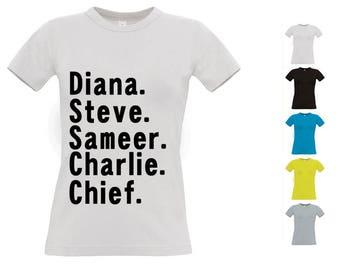Wonder Woman characters - t-shirt - 5 colors