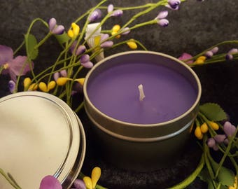 Stress Relief, Soy Aromatherapy Candle Tin