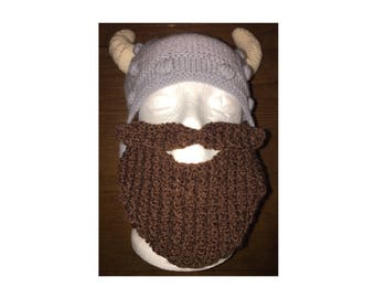 Viking hat, kid's hat, boy's hat, funny hat, party hat, hat with beard, bearded hat