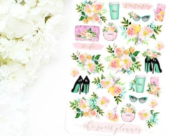 SUMMER FLORAL | Deco Sticker Sheet