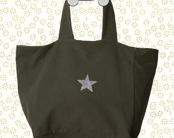 BAG tote bag KHAKI for the city as the countryside, as the holidays