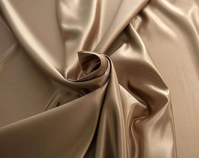 978065-Satin 100% polyester, width 150 cm, made in Italy, dry cleaning, weight 260 gr