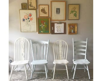 Farmhouse Chairs Set Of Four Vintage Farm You Choose The Style And Finish Rustic Provencial