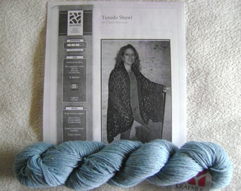 Sterling Silk and Silver Tuxedo Shawl Kit