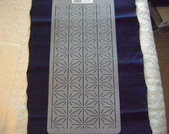 Sashiko Japanese Quilting/Embroidery Stencil 4 in. Overall Sashiko Asinoha Star Design Motif/Quilting