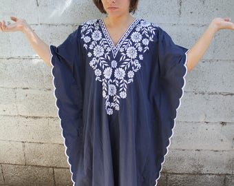 1970s caftan kaftan vintage dress