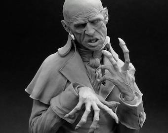 PREORDER COUNT ORLOK 1/10 scale resin bust. Nosferatu, Vampire Bust, Undead, Evil, Zombie, Dracula, blood sucker, night's king,  Count Orlok