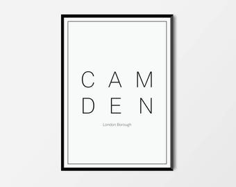 Camden, London Borough | London Print | London Artwork | London Illustration | Architecture Print | City Print