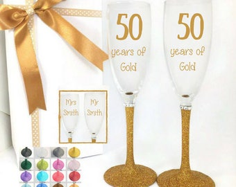 50th anniversary keepsake,50th anniversary glasses,50th anniversary gifts for parents, 50th anniversary wife,50 anniversary gift for parents