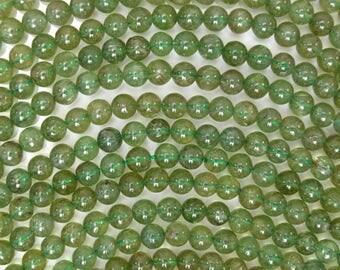 """6mm green apatite round beads 15.5"""" strand 38491"""