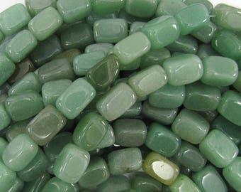 "13mm green aventurine nugget beads 16"" strand 11331"