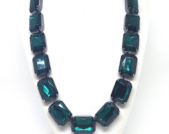 Joan Rivers Emerald Green Classics Collection Estate Necklace