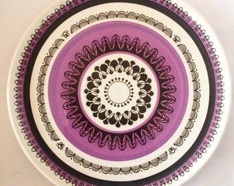 1970s Ideal Ironstone Ware Japan Vintage Retro Ceramic Plate