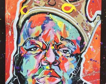 Notorious Poster print! Rapper, biggie smalls, wall art, wall decor, painting, colorful, pop art, music, hip hop, home decor, jayvart