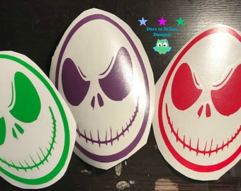 Nightmare Before Christmas Jack Skellington Decal
