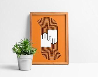 Friendly Groovin' Giclée Print
