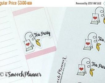 50% OFF SALE Tea Party and Tea Addict Planner Stickers | Erin Condren Planner | #001