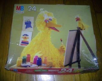 Vintage 1982 MB Sesame Street Big Bird jigsaw puzzle