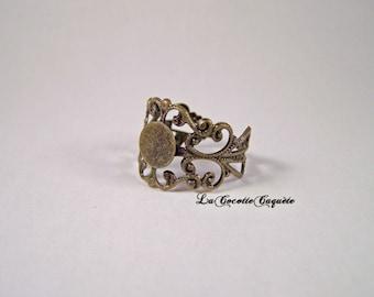 Bronze openwork color Adjustable ring