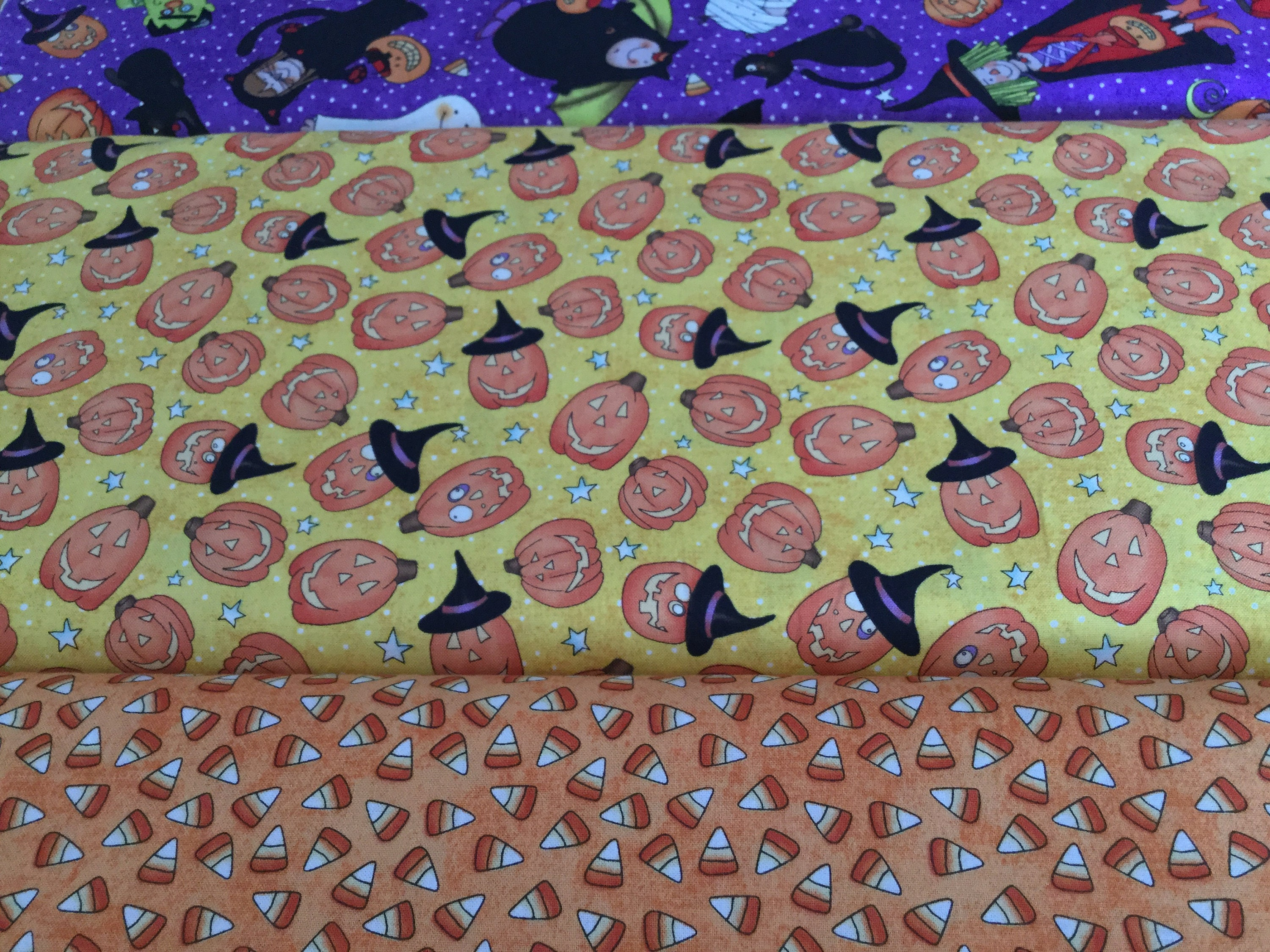Northcott fabric halloween theme pumpkins monsters for Monster themed fabric