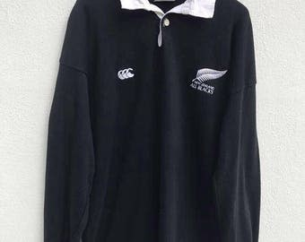 Vintage Canterburry All Blacks Sweatshirt Canterburry of New Zealand Sweatshirt Rugby team Canterburry Pullover sz M