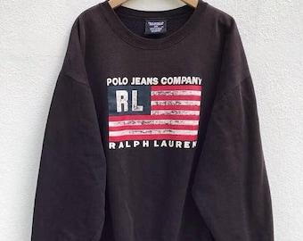 20% OFF Polo Ralph Lauren Sweater Sweatshirt Vintage Polo Jeans Company Sweater jacket Polo Sport jacket Polo Bear sz XL Faded