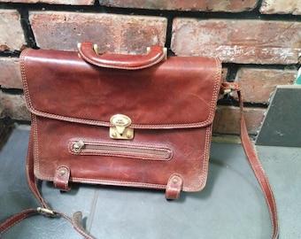 The Bridge Vintage Leather Satchel Briefcase Bag