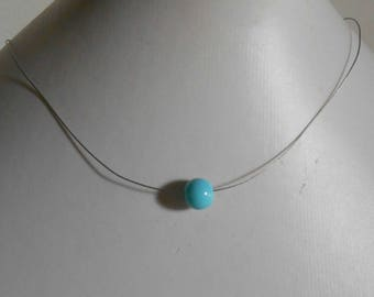 Wedding turquoise solitaire Pearl Necklace