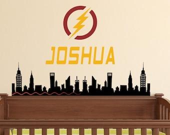 The Flash Wall Decal - Superhero Wall Decal