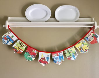 Cars and Trucks Little Golden Storybook Banner, Garland, Bunting