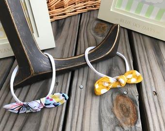 Baby girl hair accessories / headband set of 2, podka dot/ floral/ photo prop/ birthday baby shower gift idea