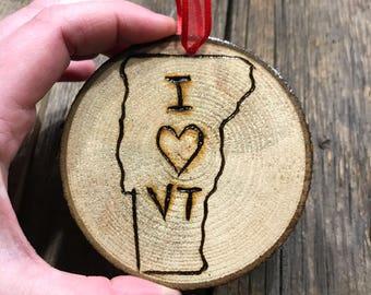 I love Vermont Ornament