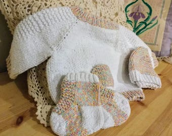 Sweet Baby Set - Sweater, Hat, and Socks - Ready to Ship