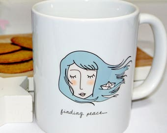 "Cup ""Finding peace"""