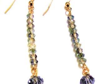 Denim Blue Crystal Earrings
