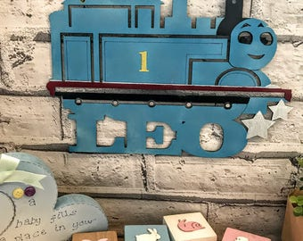 Personalised Thomas the Tank Engine plaque Thomas the train plaque Thomas and friends door plaque Personalised kids room plaque bedroom